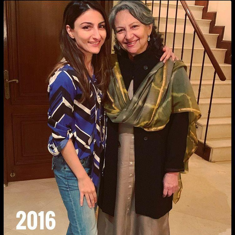 Sharmila Tagore and Soha Ali Khan