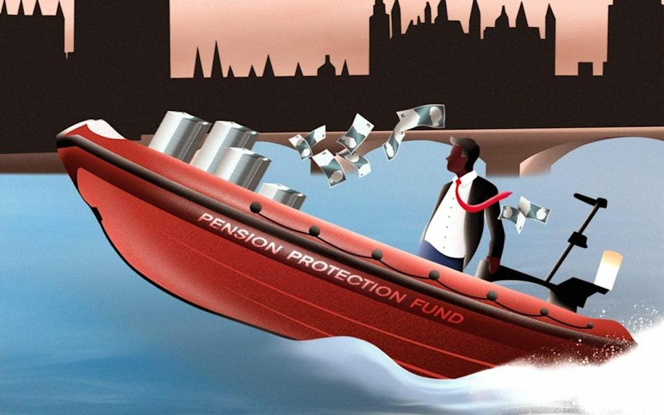 Pensions protection fund lifeboat rides past House of Commons - Jake Hawkins