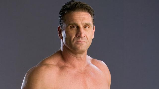 Ken Shamrock poses for a portrait on Feb. 3, 2006 in Las Vegas. (Getty Images)
