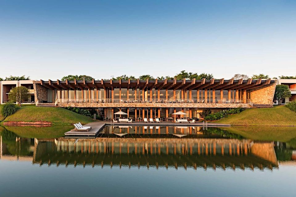 Exterior of Fasano Boa Vista resort, voted one of the best hotels in the world