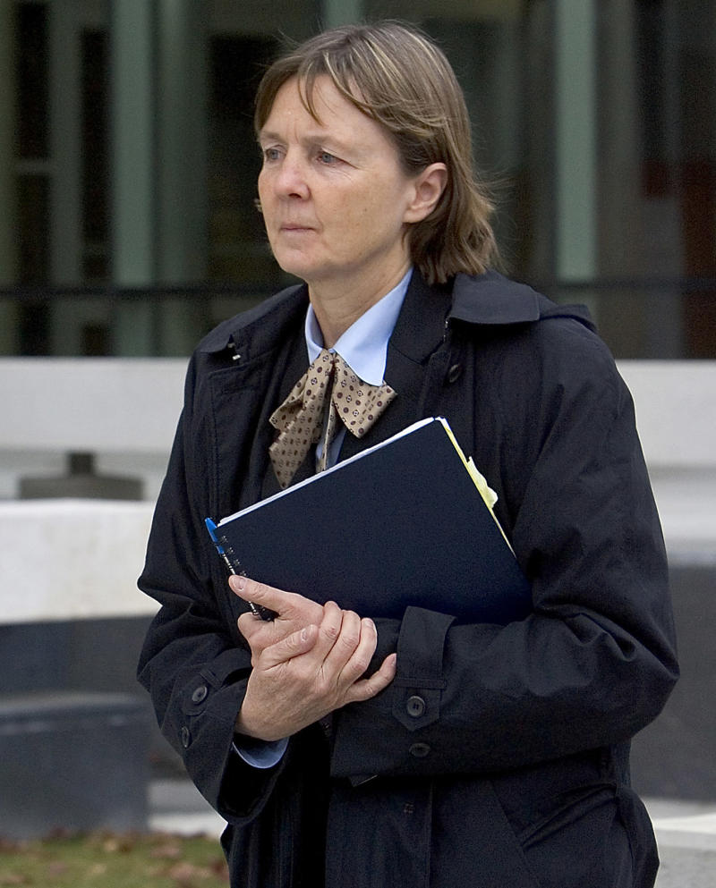 "FILE - In a Dec. 3, 2007 file photo, attorney Judy Clarke leaves the federal building in downtown Boise, Idaho. Public defenders are asking that Clarke, the attorney who defended Oklahoma City bombing conspirator Timothy McVeigh and ""Unabomber"" Ted Kaczynski, defend Jared Loughner. Loughner is charged with one count of attempted assassination of a member of Congress, two counts of killing an employee of the federal government and two counts of attempting to kill a federal employee.  He is scheduled to make his first federal court appearance Monday afternoon, Jan. 10, 2011 in Phoenix. (AP Photo/Troy Maben, File)"