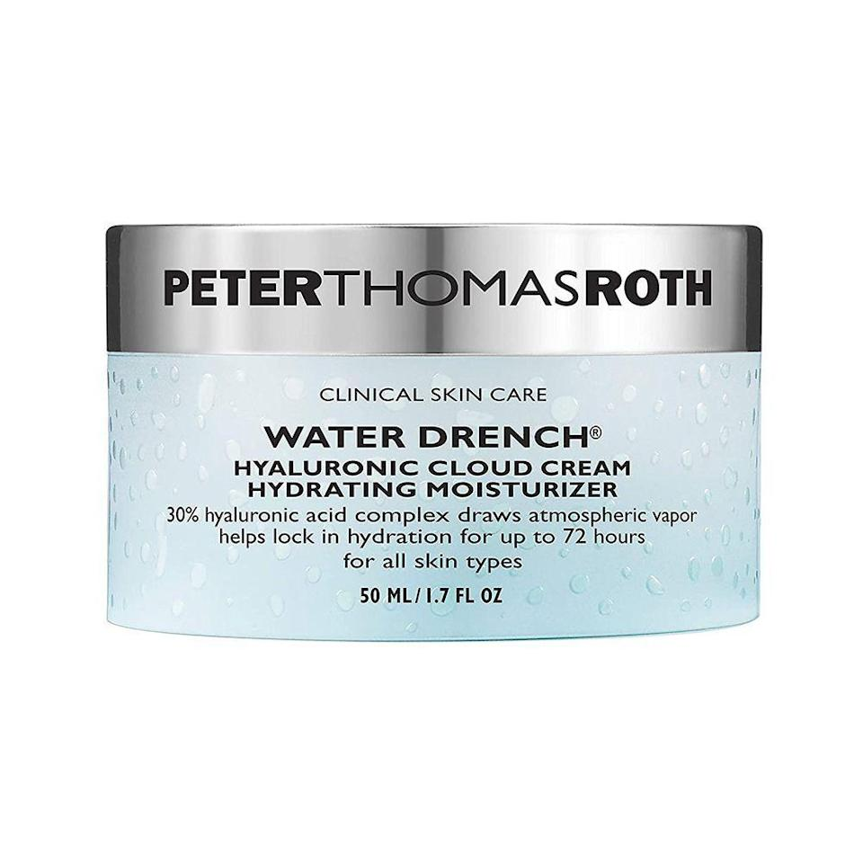 """<p><strong>Peter Thomas Roth</strong></p><p>amazon.com</p><p><a href=""""https://www.amazon.com/dp/B00YP4XGOO?tag=syn-yahoo-20&ascsubtag=%5Bartid%7C10051.g.36688891%5Bsrc%7Cyahoo-us"""" rel=""""nofollow noopener"""" target=""""_blank"""" data-ylk=""""slk:Shop Now"""" class=""""link rapid-noclick-resp"""">Shop Now</a></p><p><del>$46.96</del> $36.40 <strong>(30% off)</strong></p><p>Meet the hydrating moisturizer of all hydrating moisturizers. Made with three molecular sizes of Hyaluronic Acid, an acid known for its water-retaining abilities, you'll feel the results of this facial cream all day long. </p>"""