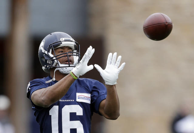 "Is this the year <a class=""link rapid-noclick-resp"" href=""/nfl/players/28457/"" data-ylk=""slk:Tyler Lockett"">Tyler Lockett</a> catches on as a reliable fantasy starter? One Yahoo analyst believes it will finally happen. (AP Photo/Elaine Thompson)"