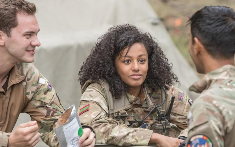 Baptism of fire: Shalom Brune-Franklin in her debut screen role in BBC's Our Girl - Marcos Cruz/BBC