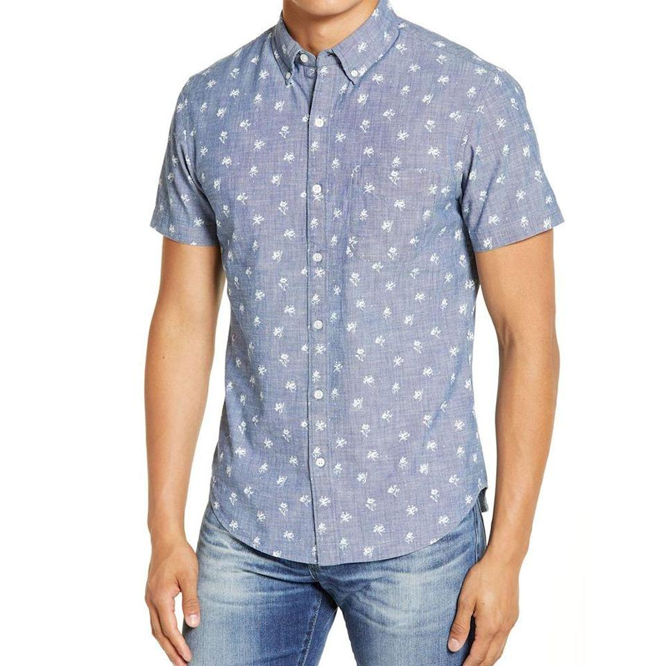 """<p><strong>BONOBOS</strong></p><p>nordstrom.com</p><p><a href=""""https://go.redirectingat.com?id=74968X1596630&url=https%3A%2F%2Fwww.nordstrom.com%2Fs%2Fbonobos-slim-fit-short-sleeve-button-down-shirt%2F5609055&sref=https%3A%2F%2Fwww.menshealth.com%2Fstyle%2Fg33510339%2Fnordstrom-anniversary-sale-2020%2F"""" rel=""""nofollow noopener"""" target=""""_blank"""" data-ylk=""""slk:BUY IT HERE"""" class=""""link rapid-noclick-resp"""">BUY IT HERE</a></p><p><strong><del>$78</del></strong> <strong>$49.90 (36% off)</strong></p><p>Though we might be social distancing this summer, it never hurts to throw on a sharp button down that'll make you feel like a total boss. </p>"""
