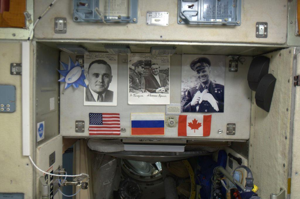 I'm very proud to have my country's flag on the wall of the Space Station, especially in such honourable company.
