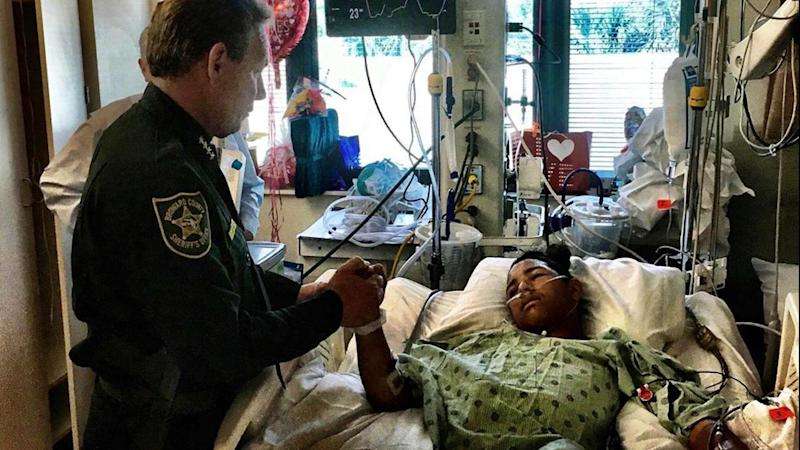 Hero Who Was Shot 5 Times While Helping Save 20 Fellow Students Gets Visit From Sheriff