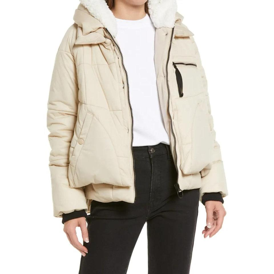 """Not cropped, nor really knee-length, this winter coat hits *just* right. $249, Nordstrom. <a href=""""https://www.nordstrom.com/s/avec-les-filles-puffer-coat/5896382"""" rel=""""nofollow noopener"""" target=""""_blank"""" data-ylk=""""slk:Get it now!"""" class=""""link rapid-noclick-resp"""">Get it now!</a>"""