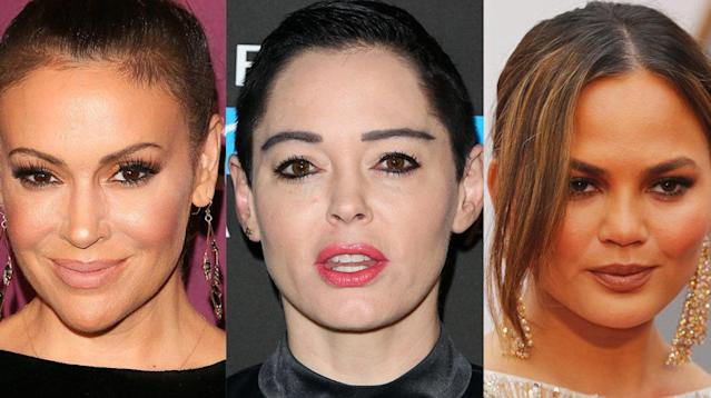 Women across the world are showing solidarity with actress Rose McGowan by falling silent on Twitter for one day.