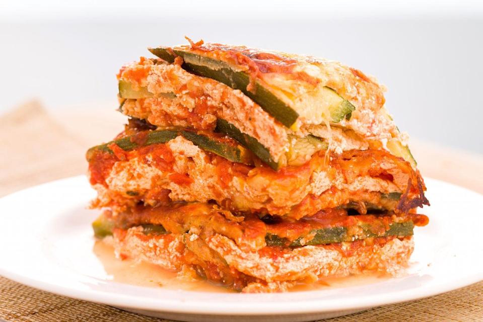 """<p>The zucchini replaces the lasagna noodles, so the cheese doesn't count, right?</p><p>Get the recipe from <a href=""""https://www.delish.com/cooking/recipe-ideas/recipes/a43642/best-zucchini-lasagna-recipe/"""" rel=""""nofollow noopener"""" target=""""_blank"""" data-ylk=""""slk:Delish"""" class=""""link rapid-noclick-resp"""">Delish</a>.</p>"""