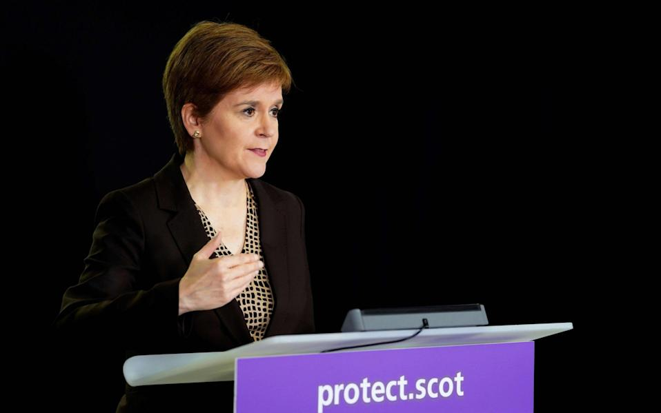 The SNP leader has been given a TV show almost every day since March by the BBC - AFP/AFP