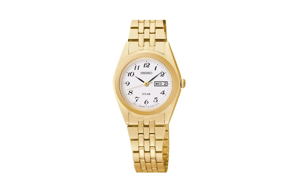 "$215, Seiko. <a href=""https://seikousa.com/collections/womens/products/sut118"" rel=""nofollow noopener"" target=""_blank"" data-ylk=""slk:Get it now!"" class=""link rapid-noclick-resp"">Get it now!</a>"