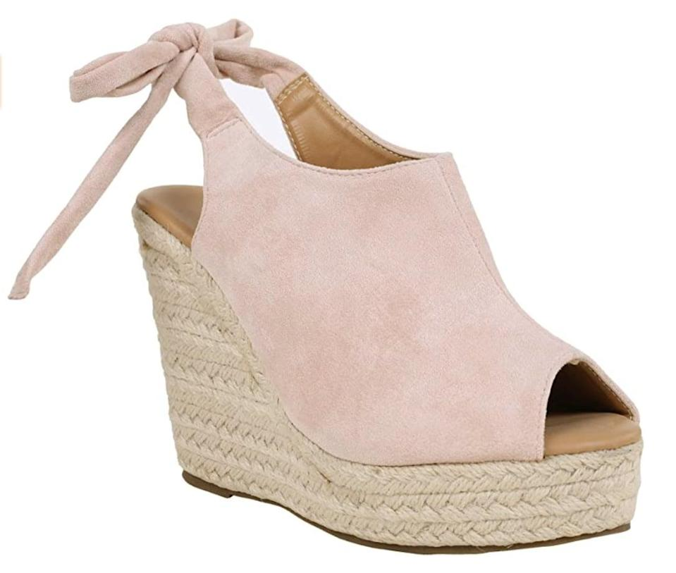 <p>You can style these <span> Syktkmx Espadrille Wedges</span> ($40) with everything from skirts to dresses.</p>
