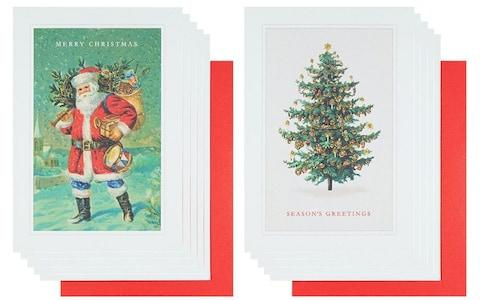 Paperchase Traditional Father Christmas Christmas cards,box of 10 - Credit: Paperchase