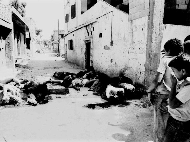 Bodies at the Sabra and Chatila Palestinian refugee camps in Beirut in 1982: REUTERS