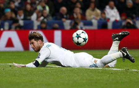 Soccer Football - Champions League - Real Madrid vs Borussia Dortmund - Santiago Bernabeu, Madrid, Spain - December 6, 2017 Real Madrid's Sergio Ramos REUTERS/Juan Medina