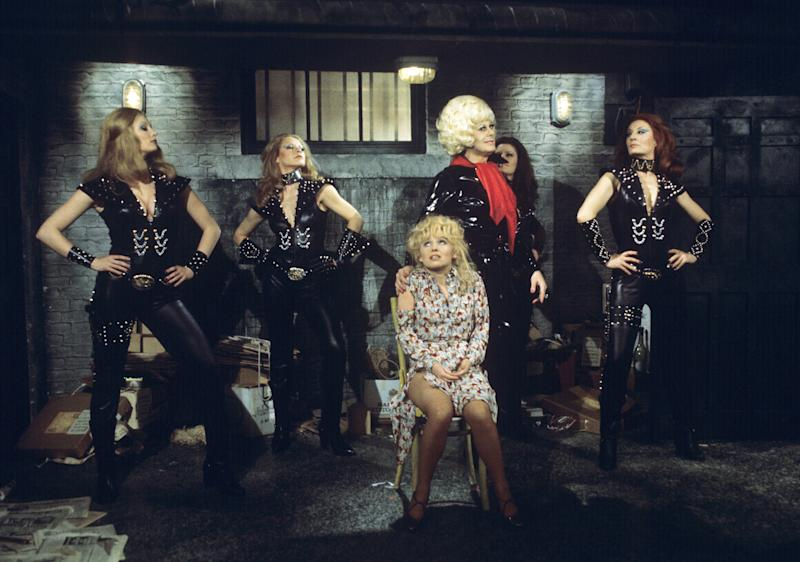 With Danny La Rue on 'Come Spy With Me' in 1977.