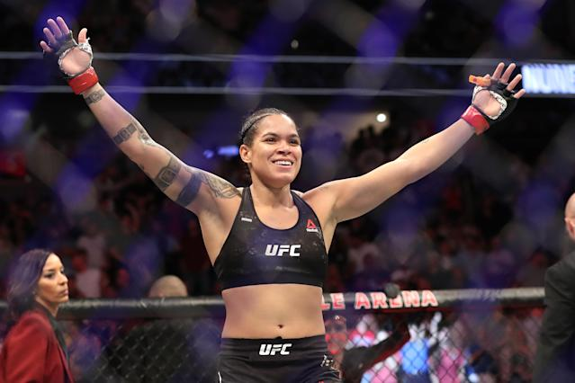 Amanda has won her last nine fights, capturing and holding two UFC titles in the process. (Photo by Sean M. Haffey/Getty Images)