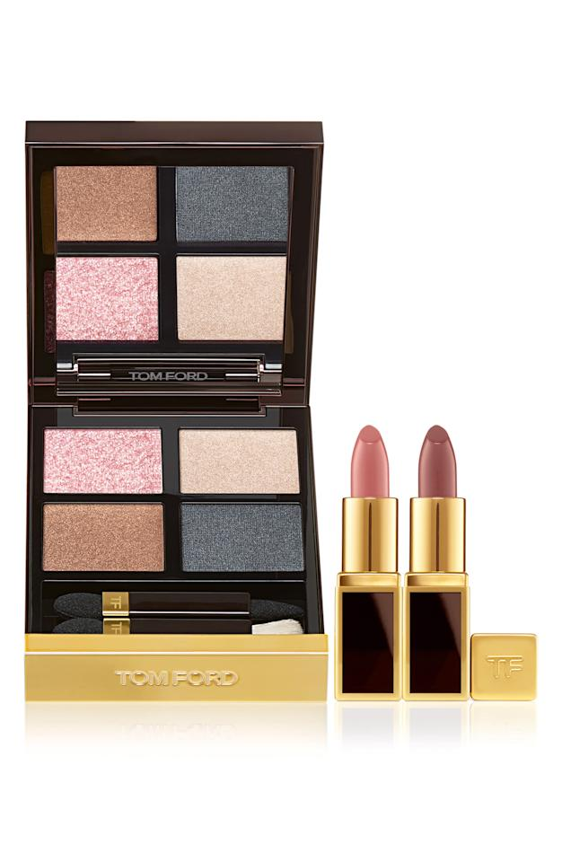 """<p><strong>Tom Ford</strong></p><p>nordstrom.com</p><p><strong>$88.00</strong></p><p><a href=""""https://go.redirectingat.com?id=74968X1596630&url=https%3A%2F%2Fshop.nordstrom.com%2Fs%2Ftom-ford-eye-mini-lip-set-126-value%2F5271150&sref=http%3A%2F%2Fwww.marieclaire.com%2Fbeauty%2Fg28433108%2Fnordstrom-anniversary-beauty-sale-2019%2F"""" target=""""_blank"""">SHOP IT</a></p><p><strong>Original price: $126 </strong></p><p>Every woman needs Tom Ford beauty in their lives. Treat yourself to a full face with these shimmery neutrals and classic nude lipsticks that'll suit all skin tones. </p>"""
