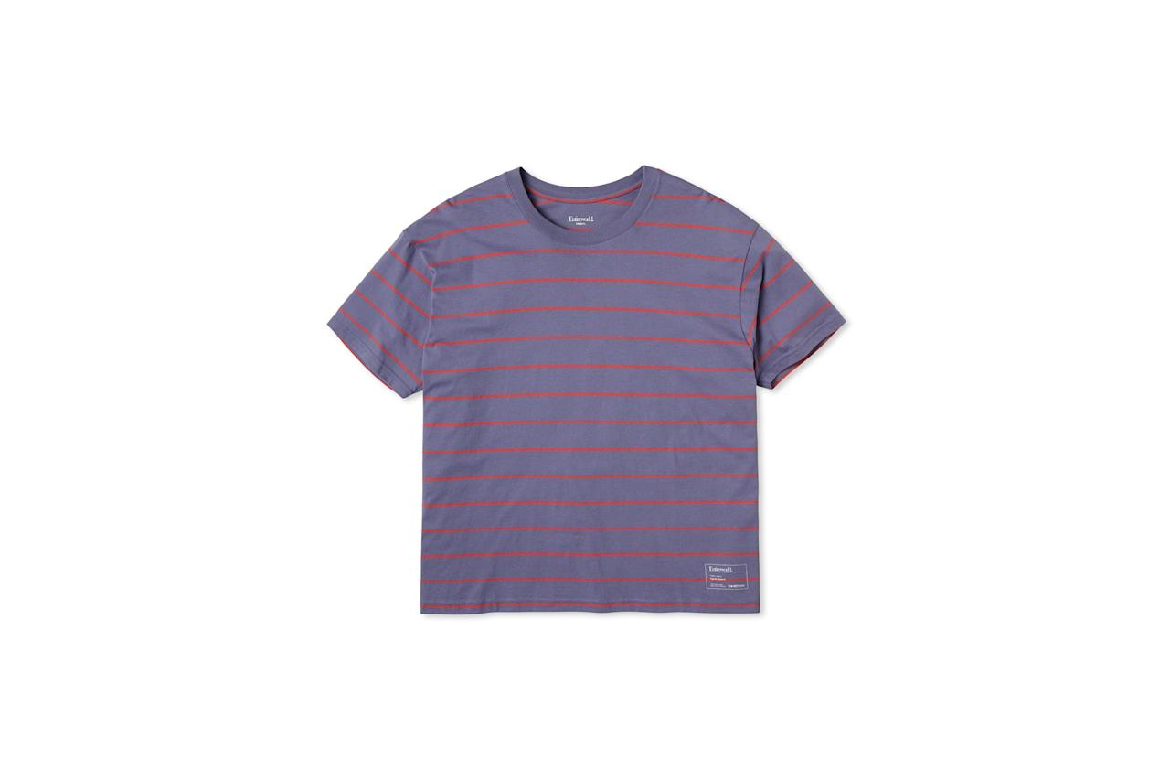 """$45, Entireworld. <a href=""""https://theentireworld.com/men/product/t-shirt-mens-type-b-version-6-purple-red"""">Get it now!</a>"""