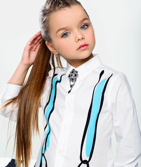 A six year old has been labelled the most beautiful girl in the world [Photo: Instagram/anna_knyazeva_official]