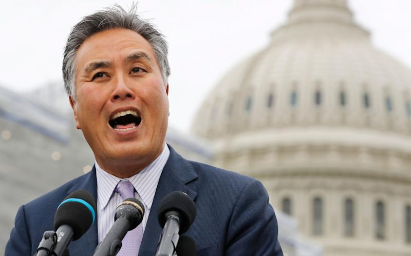 """Rep. Mark Takano (D-Calif.) said he has had people telling him to """"go back to China"""" — even though he's of Japanese ancestry. (Photo: ASSOCIATED PRESS)"""