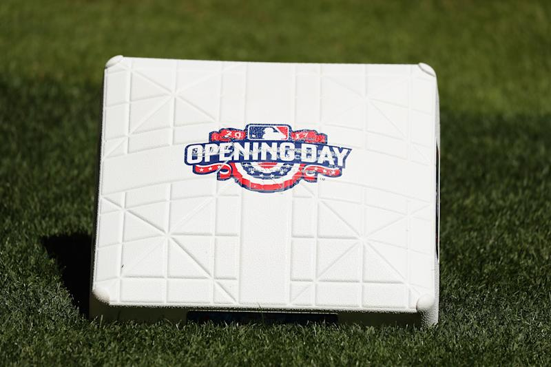 Get those bases ready early for next season. Opening Day will be earlier than ever before. (Getty Images)