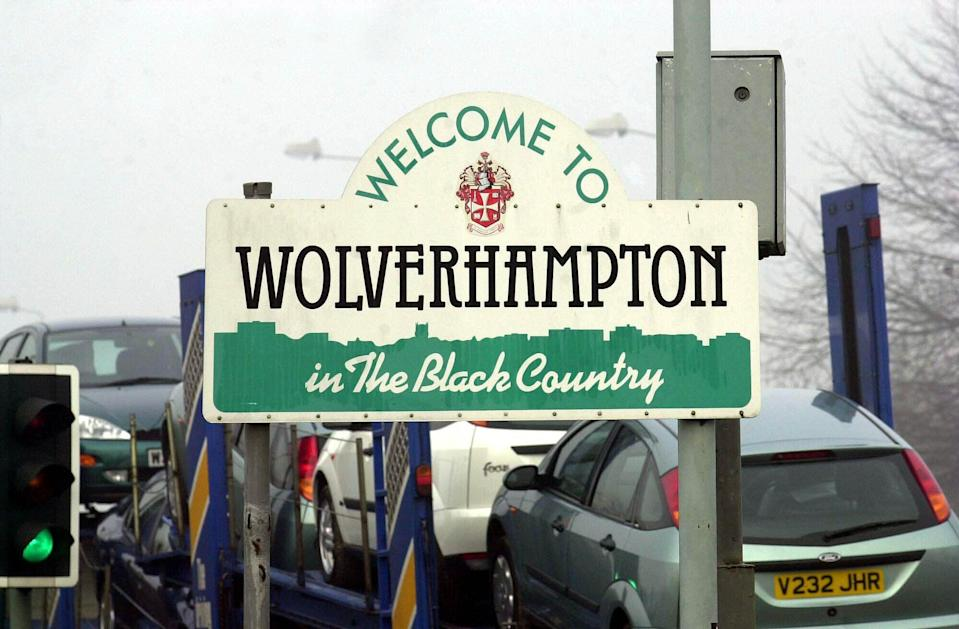 A sign welcoming visitors to Wolverhampton, which was made a city in 2000 (PA Archive)