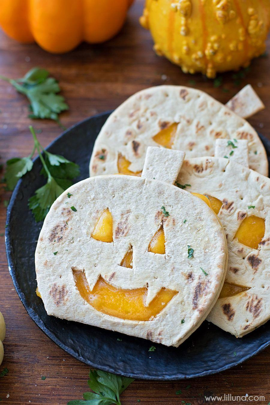 "<p>Ask your kids to join you in the kitchen to make <a href=""https://www.countryliving.com/food-drinks/g3498/halloween-appetizers/"" rel=""nofollow noopener"" target=""_blank"" data-ylk=""slk:easy Halloween appetizers"" class=""link rapid-noclick-resp"">easy Halloween appetizers</a>, like these adorable (and yummy!) pumpkin-shaped quesadillas. </p><p><strong>Get the recipe at <a href=""https://lilluna.com/flatbread-halloween-recipes/"" rel=""nofollow noopener"" target=""_blank"" data-ylk=""slk:Lil' Luna"" class=""link rapid-noclick-resp"">Lil' Luna</a></strong><strong>.</strong></p><p><a class=""link rapid-noclick-resp"" href=""https://www.amazon.com/Rachael-Ray-Nonstick-Bakeware-Silicone/dp/B00FGVPAL2/?tag=syn-yahoo-20&ascsubtag=%5Bartid%7C2139.g.34440360%5Bsrc%7Cyahoo-us"" rel=""nofollow noopener"" target=""_blank"" data-ylk=""slk:SHOP BAKING SHEETS"">SHOP BAKING SHEETS</a><br></p>"