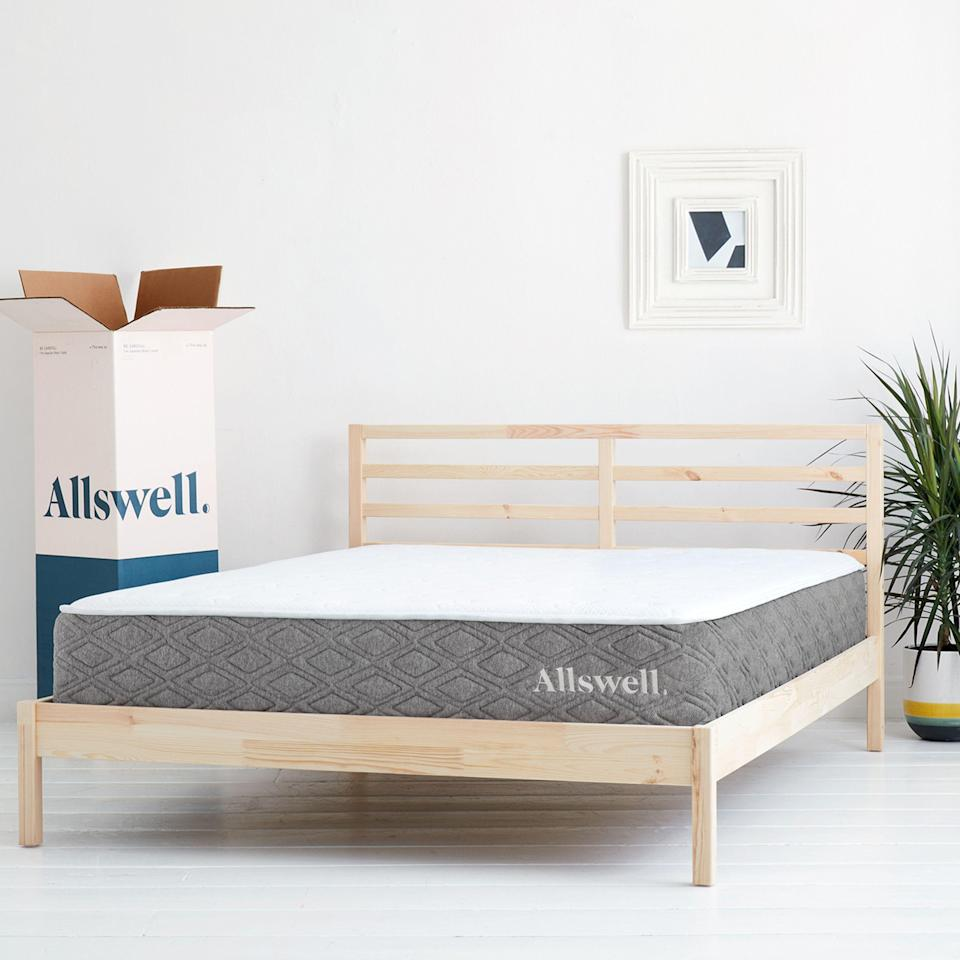 """<p><strong>Allswell</strong></p><p>allswellhome.com</p><p><strong>$675.00</strong></p><p><a href=""""https://go.redirectingat.com?id=74968X1596630&url=https%3A%2F%2Fallswellhome.com%2Fproducts%2Fluxe-classic-firmer-hybrid-mattress&sref=https%3A%2F%2Fwww.goodhousekeeping.com%2Fhome-products%2Fg4138%2Fbest-mattress-in-a-box%2F"""" rel=""""nofollow noopener"""" target=""""_blank"""" data-ylk=""""slk:Shop Now"""" class=""""link rapid-noclick-resp"""">Shop Now</a></p><p><em><em>•</em></em> <strong>Height</strong><strong>:</strong> 12""""<br><em><em>•</em></em><strong> Firmness level</strong><strong>: </strong>Medium<br><em><em>•</em></em> <strong>Sizes</strong><strong>:</strong> Twin, Twin XL, Full, Queen, King, California King<br><em><em>•</em></em> <strong>Trial period</strong><strong><strong>: </strong></strong>90 days</p><p>Allswell's mattress is <strong>packed with features, but it's also one of the most affordable brands</strong> in our roundup. It's not the <em>cheapest</em>, but it stands out for its exceptional performance despite costing well under $1,000. This mattress is made with memory foam for pressure relief, coils for extra support, and a plush topper to make it even more comfortable. Our panel agreed this mattress was worth the price, and several even said it got rid of their neck and back pain. </p><p>If you're looking to save even more, the brand also has a <a href=""""https://go.redirectingat.com?id=74968X1596630&url=https%3A%2F%2Fwww.walmart.com%2Fip%2FThe-Allswell-10-Inch-Bed-in-a-Box-Hybrid-Mattress-Queen%2F800441934&sref=https%3A%2F%2Fwww.goodhousekeeping.com%2Fhome-products%2Fg4138%2Fbest-mattress-in-a-box%2F"""" rel=""""nofollow noopener"""" target=""""_blank"""" data-ylk=""""slk:10-inch hybrid mattress"""" class=""""link rapid-noclick-resp"""">10-inch hybrid mattress</a> that's just $299 for a Queen. It has fewer features (there's less edge support and no cooling aspects), but reviewers told us it's comfortable and they're happy with it.</p>"""