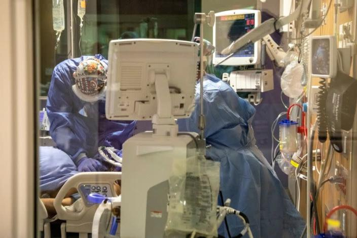 Treating coronavirus disease (COVID-19) patients at an intensive care unit in Toronto