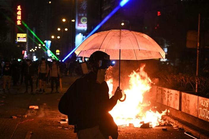 Hong Kong has been upended by six months of massive pro-democracy protests that have seen violent clashes between police and hardcore demonstrators (AFP Photo/Philip FONG)