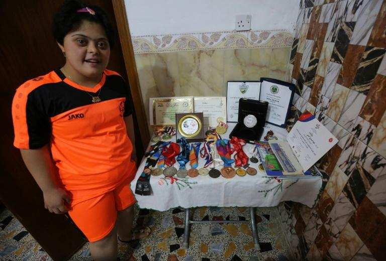 Iraqi badminton player Heba Asghar has two gold medals to her name from the Special Olympics for athletes with intellectual disabilities