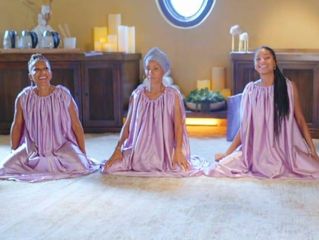"""Jada Pinkett Smith, Willow Smith, and Adrienne Banfield-Norris steamed their vaginas on their talkshow """"Red Table Talk."""""""