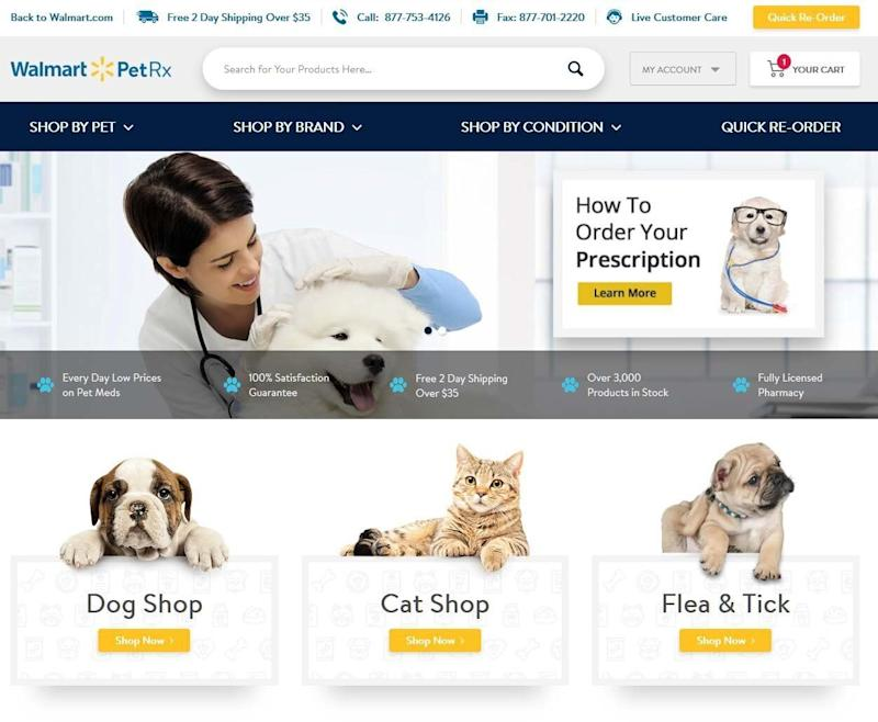 Walmart launches first online pet pharmacy