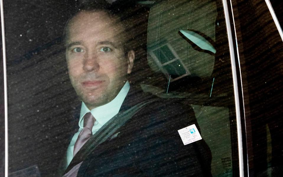 Matt Hancock was spotted without a mask while travelling in a ministerial car -  George Cracknell Wright/LNP