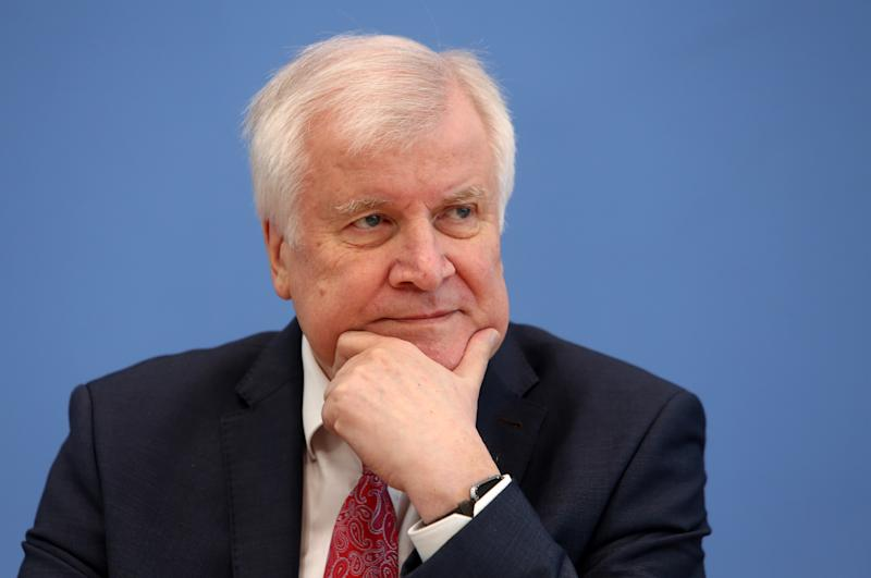 BERLIN, GERMANY - JULY 09: German Federal Interior Minister Horst Seehofer (CSU) attends a news conference on July 09, 2020 in Berlin, Germany. The Federal Office for the Protection of the Constitution presented its annual report for 2019. (Photo by Adam Berry/Getty Images)