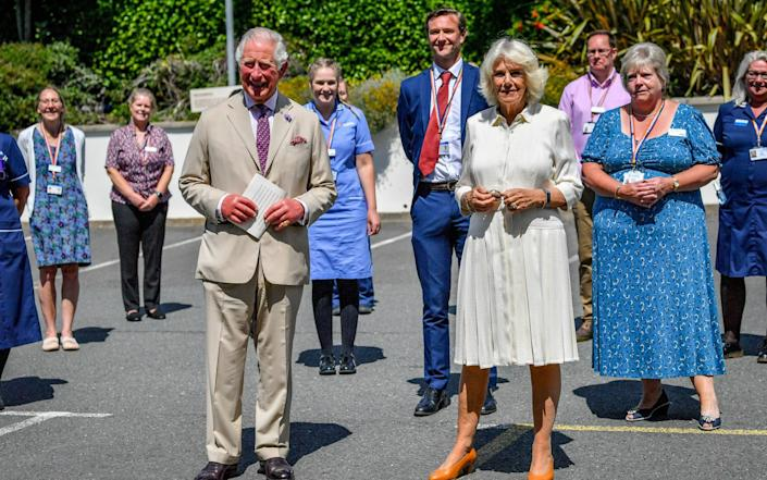 Prince Charles, The Duke of Cornwall and Camilla, Duchess of Cornwall visit St Austell Healthcare, the Wheal Northey Centre, to recognise and thank staff for their efforts during Covid-19 pandemic - Ben Birchall -WPA Pool