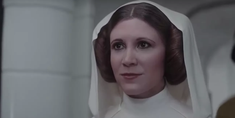 Carrie Fisher's CGI double in Rogue One (credit: Disney)
