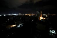 A general view of Gaza before the start of a reported Israel-Gaza ceasefire, in Gaza
