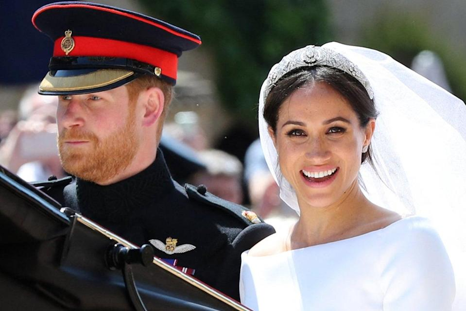 <p>Philip's death comes just weeks after Harry and Meghan's bombshell  interview with Oprah Winfrey </p> (POOL/AFP via Getty Images)