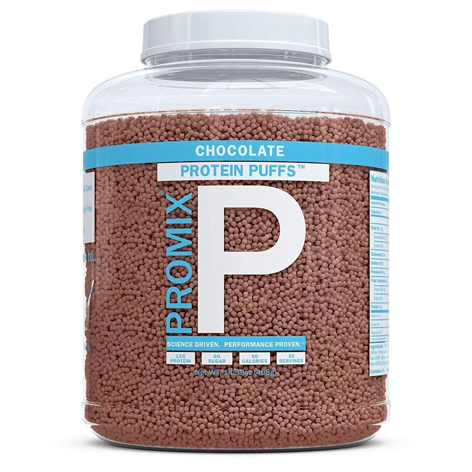 <p>These <span>ProMix Nutrition Chocolate-Flavored Protein Puffs</span> ($20) are like adult cocoa puffs, and we're in love. They've got only two grams of net carbohydrates per serving.</p>