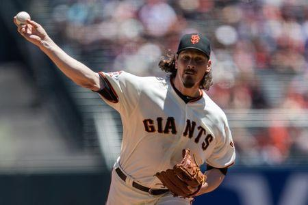 Jul 7, 2018; San Francisco, CA, USA; San Francisco Giants starting pitcher Jeff Samardzija (29) pitches against the St. Louis Cardinals in the first inning at AT&T Park. Mandatory Credit: John Hefti-USA TODAY Sports
