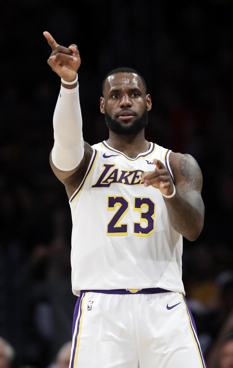 NBA star LeBron James was the second most tweeted about celebrity in the U.S. (THE ASSOCIATED PRESS)