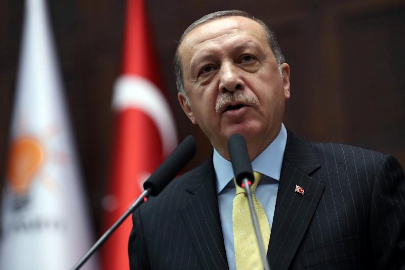 The allegations against Erdogan's inner circle posed one of the biggest threats to his rule. (AFP Photo/ADEM ALTAN)