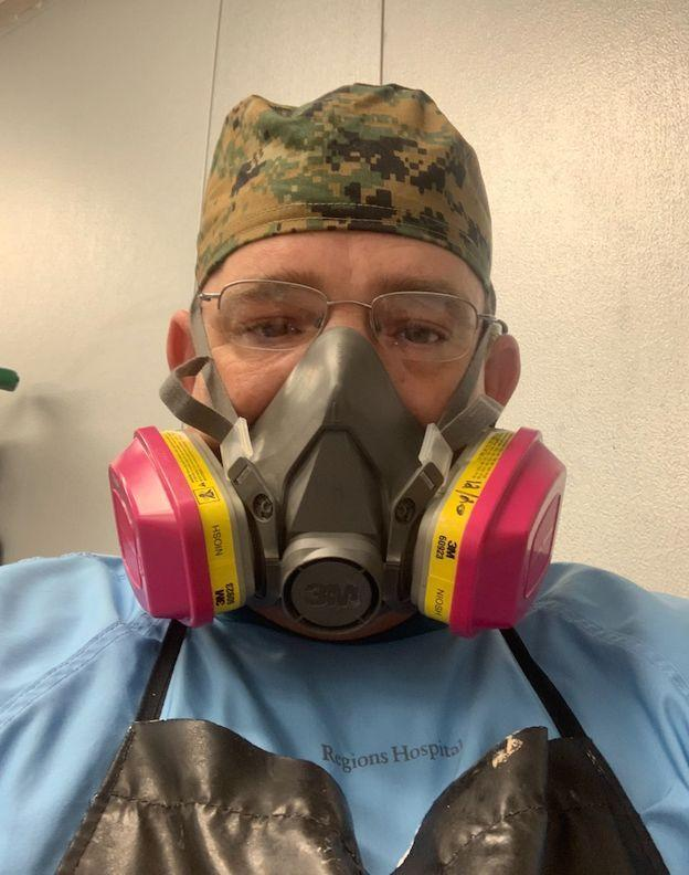 The author wearing his personal protective equipment. (Photo: Courtesy of Patrick Huey)