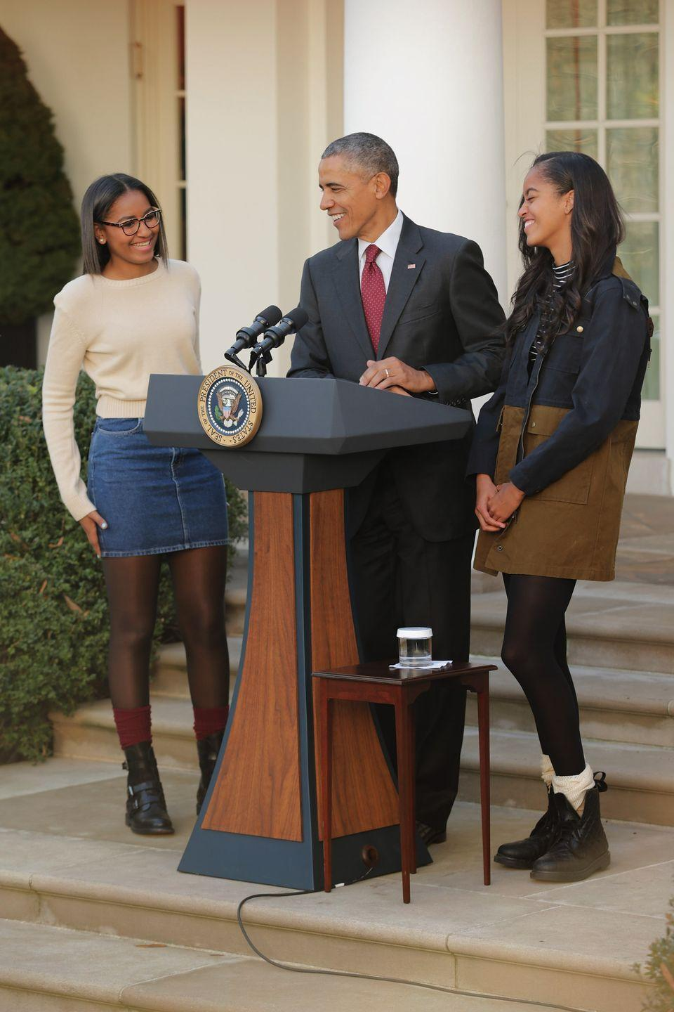 """<p><strong>Children</strong>: Malia Obama (21) and Sasha Obama (19)</p><p>We've all watched the 44th president's two girls, <a href=""""https://www.oprahmag.com/entertainment/books/a32362642/malia-and-sasha-obama-netflix-becoming/"""" rel=""""nofollow noopener"""" target=""""_blank"""" data-ylk=""""slk:Sasha and Malia"""" class=""""link rapid-noclick-resp"""">Sasha and Malia</a>, grow up and become adults before our very eyes. But President Obama is plenty busy, even with an empty nest, between <a href=""""https://www.oprahmag.com/entertainment/tv-movies/a27323589/barack-michelle-obama-list-netflix-shows/"""" rel=""""nofollow noopener"""" target=""""_blank"""" data-ylk=""""slk:a Netflix deal"""" class=""""link rapid-noclick-resp"""">a Netflix deal</a> with <a href=""""https://www.oprahmag.com/entertainment/tv-movies/a32347191/michelle-barack-obama-marriage-timeline/"""" rel=""""nofollow noopener"""" target=""""_blank"""" data-ylk=""""slk:the former first lady"""" class=""""link rapid-noclick-resp"""">the former first lady</a> and delivering <a href=""""https://www.oprahmag.com/life/a32528888/barack-obama-commencement-speech-2020-full-transcript/"""" rel=""""nofollow noopener"""" target=""""_blank"""" data-ylk=""""slk:online graduation speeches"""" class=""""link rapid-noclick-resp"""">online graduation speeches</a>.</p>"""
