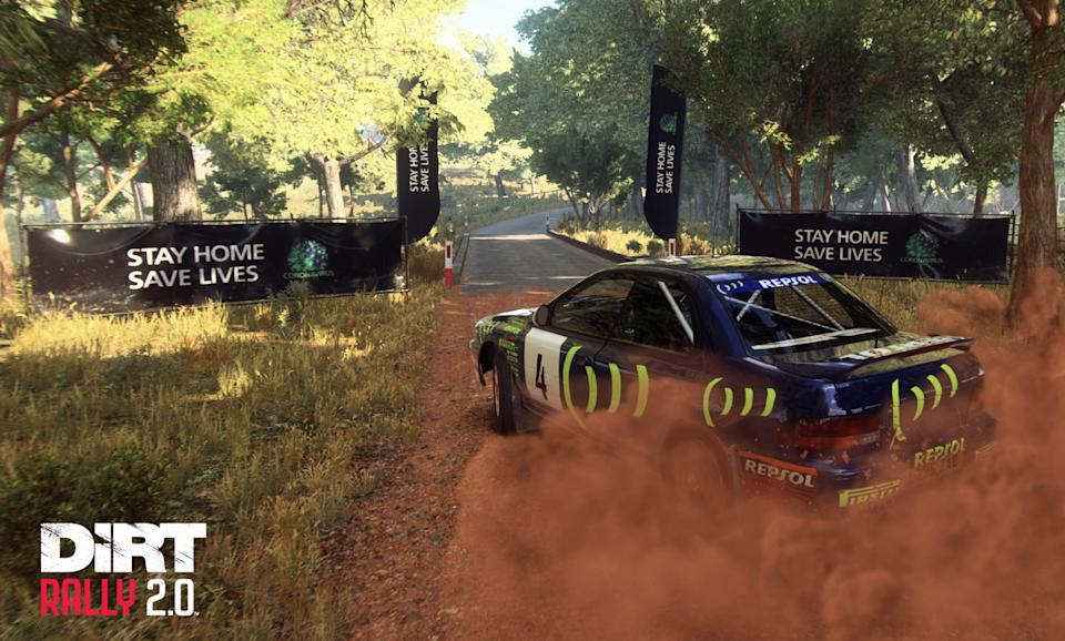 How gamers will see coronavirus safety messages in Codemasters' DiRT Rally 2.0 (Codemasters' DiRT Rally 2.0/PA)