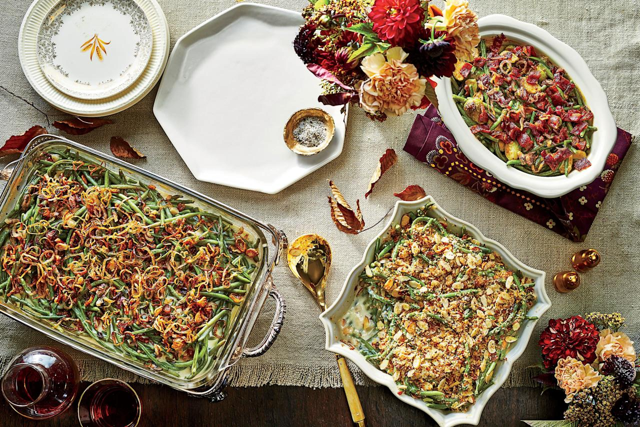 "<p>Who said you need to have turkey on Thanksgiving? Load up on the veggie sides with this <a href=""https://www.southernliving.com/side-dishes/holiday-vegetable-side-dishes"">vegetarian Thanksgiving menu</a>. Slow cooker lentil soup acts as the hearty main, but the sides are really the stars of the show. With lemon-almond green bean casserole, breadcrumb-topped mac and cheese, and scalloped potatoes, this vegetarian-friendly menu proves that you don't need meat to make a fantastic meal.</p> <p><strong>Recipes:</strong></p> <p><a href=""https://www.southernliving.com/recipes/slow-cooker-lentil-soup"">Slow Cooker Lentil Soup</a></p> <p><a href=""https://www.southernliving.com/recipes/cheesy-scalloped-potatoes"">Classic Parmesan Scalloped Potatoes</a></p> <p><a href=""https://www.southernliving.com/recipes/herbed-breadcrumb-topped-macaroni-and-cheese-recipe"">Herbed Breadcrumb-Topped Macaroni and Cheese</a></p> <p><a href=""https://www.southernliving.com/recipes/lemon-almond-green-bean-casserole-recipe"">Lemon-Almond Green Bean Casserole</a></p> <p><a href=""https://www.southernliving.com/recipes/vegetarian-slow-cooker-collard-greens-recipe"">Vegetarian Slow-Cooker Collard Greens</a></p> <p><a href=""https://www.southernliving.com/recipes/twice-cooked-sweet-potatoes-citrus-honey"">Twice-Cooked Sweet Potatoes</a></p> <p><a href=""https://www.southernliving.com/recipes/ambrosia-salad"">Mae Mae's Ambrosia Salad</a></p> <p><a href=""https://www.southernliving.com/recipes/chocolate-silk-pie"">Chocolate Silk Pie</a></p>"
