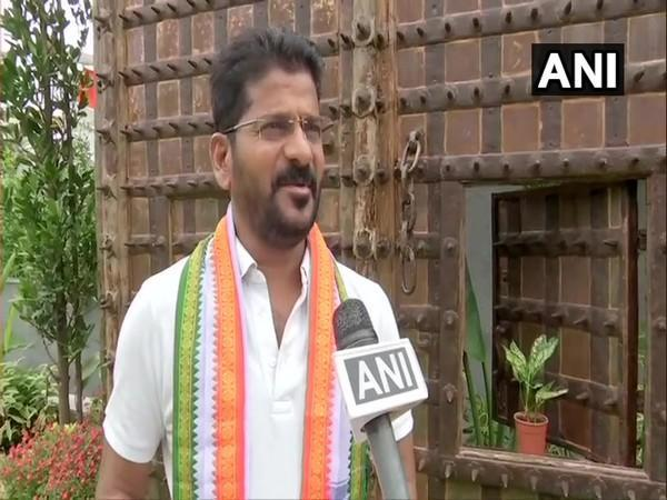 TPCC chief A Revanth Reddy speaking to ANI (Photo/ANI)